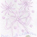 طرحی از یک گل برای سایه دوزی