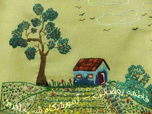 منظره دوزی، طرح بهار- سوزندوزی شب افروز
