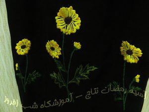 گلدوزی پیراهن- آسیه رمضان نتاج