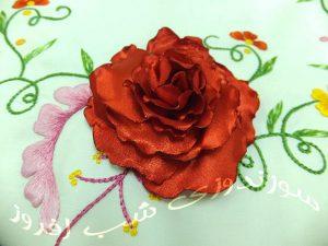 همراهی سوزندوزی و گلسازی- سوزندوزی شب افروز