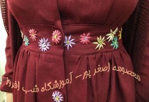 گلدوزی روی دگمه- معصومه اصغر پور