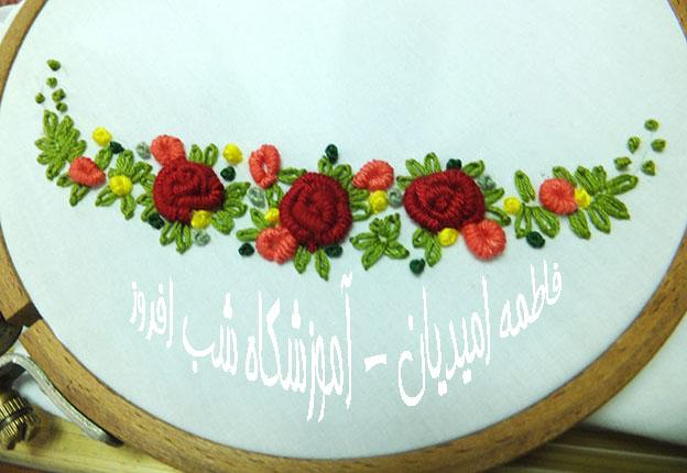 حلقه های گلدوزی و قاب تابلو- فاطمه امیدیان