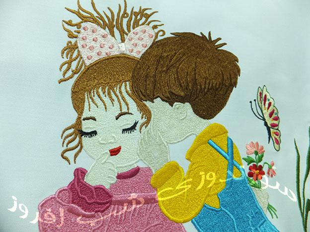 گره دوزی و دوخت طرح های عروسکی- سوزندوزی شب افروز