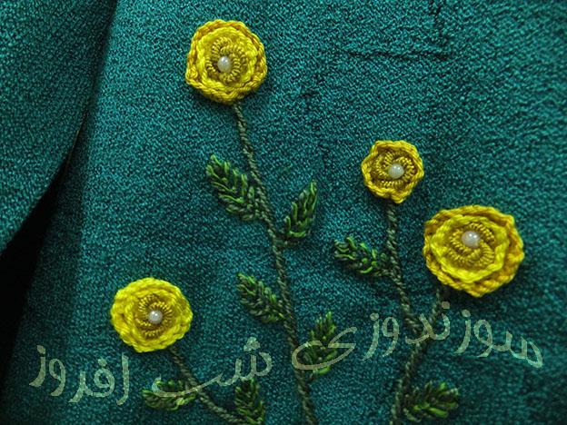 رز ایرانی در میان گلدوزی برزیلی- سوزندوزی شب افروز
