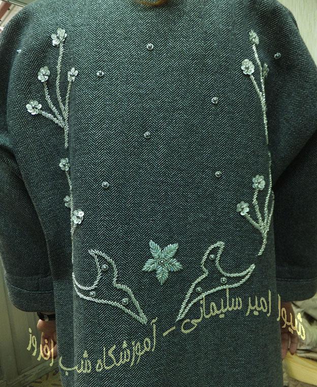 گل شکوفه ای روی لباس- شیوا امیر سلیمانی
