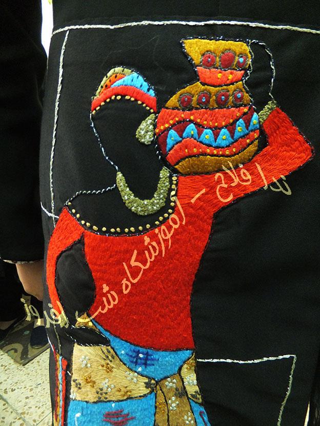 دوخت لباس در طرح های سوزندوزی- ندا فلاح
