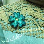 گل های سه بعدی روی لباس