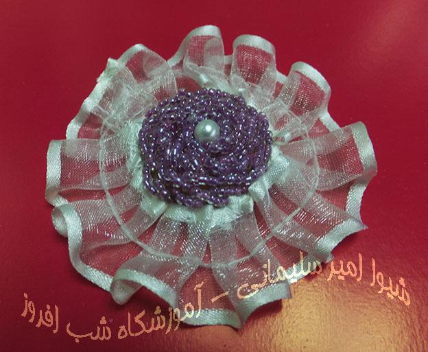 گل یقه  با منجوق و تور- شیوا امیر سلیمانی