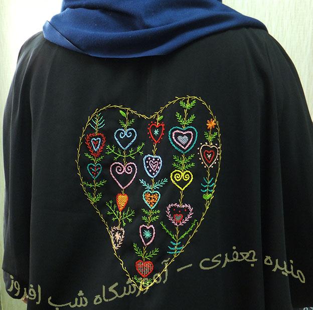 دوخت های بنیادی سوزندوزی در طرح ها- منیره جعفری