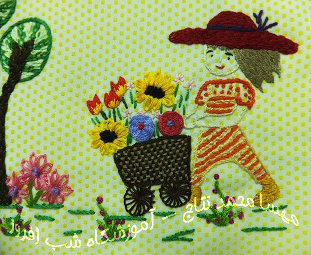 منظره ای از گلفروش ودرخت- مهسا محمد نتاج