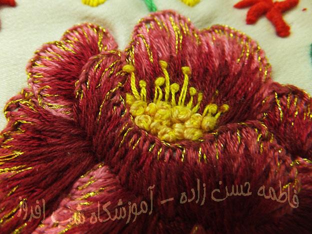لبخند گل در سوزندوزی- فاطمه حسن زاده