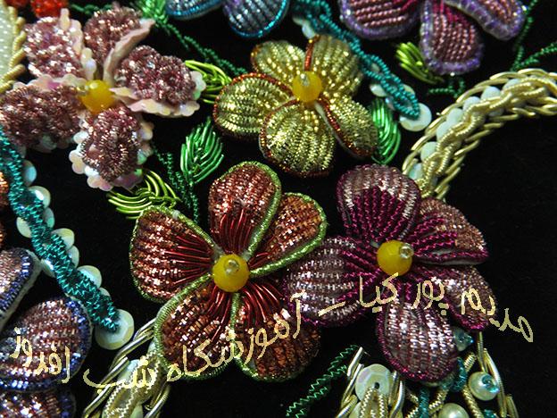 گلهای سه بعدی با سرمه - مریم پور کیا