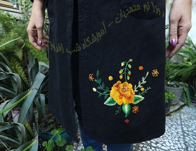 شاخه ای از یک رز-روزا نور محمدیان