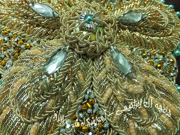 سرمه دوزی گل صد برگ- فاطمه آل ابراهیمی
