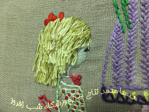 دوخت موهای حلقه ای کوتاه و برش شده- مهسا محمد نتاج