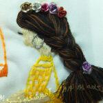 دوخت مو در سوزندوزی- 11