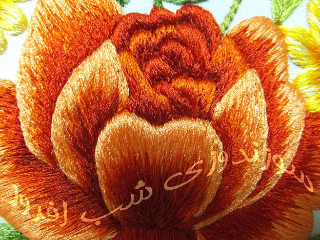 سوزندوزی گل رز- سوزندوزی شب افروز