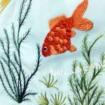 سوزندوزی ماهی قرمز